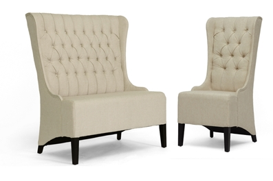 Baxton Studio Vincent Sofa Set Org $547 sale price $438