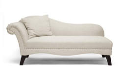 Baxton Studio Phoebe Beige Linen Modern Chaise Lounge Affordable modern furniture in Chicago, Baxton Studio Phoebe Beige Linen Modern Chaise Lounge,  Living Room Furniture  Chicago