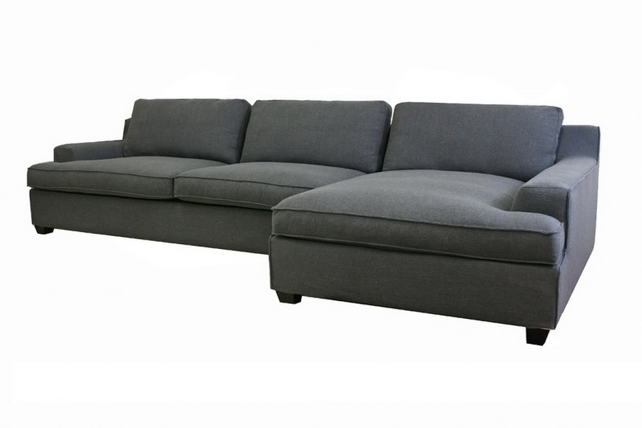 Baxton Studio Kaspar Slate Gray Fabric Modern Sectional Sofa   BSOTD0905  (AD066 3) ...