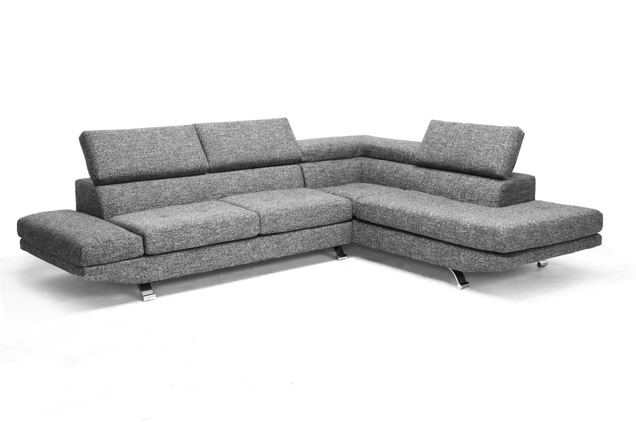 ... Baxton Studio Adelaide Gray Twill Fabric Modern Sectional Sofa    BSOTD1909 Sectional (RFC ... Part 61