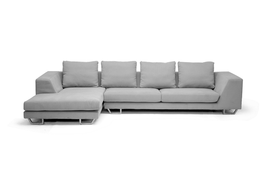 ... Baxton Studio Abby Gray Twill Fabric Large Sectional Sofa    BSOTD6301 (A359 14A ...