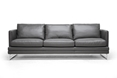 Baxton Studio Dakota Pewter Gray Leather Modern Sofa Affordable modern furniture in Chicago, Baxton Studio Dakota Pewter Gray Leather Modern Sofa,  Living Room Furniture  Chicago