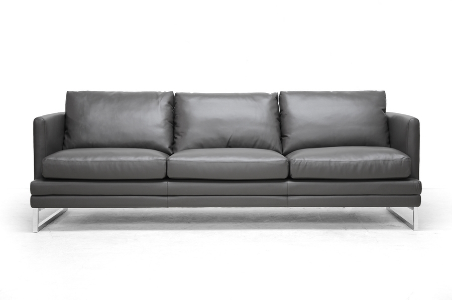 Baxton Studio Dakota Pewter Gray Leather Modern Sofa Set  : 1378 DU8145 SF from www.baxtonstudiooutlet.com size 900 x 598 jpeg 155kB