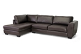 Baxton Studio Orland Brown Leather Modern Sectional Sofa Set with Left Facing Chaise affordable modern furniture in Chicago, Baxton Studio Orland Brown Leather Modern Sectional Sofa Set with Left Facing Chaise,  Living Room Furniture  Chicago