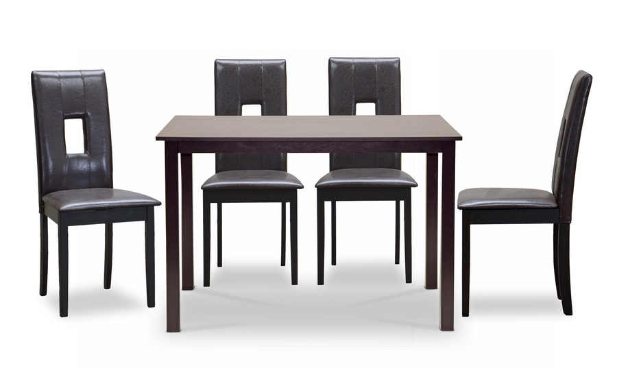 Baxton Studio 5PC Bellar Dining Set