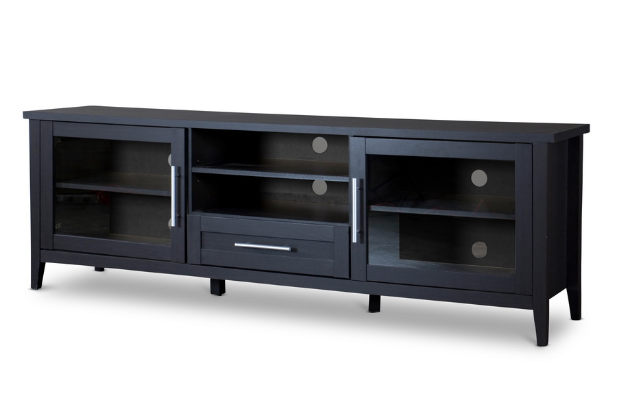 Baxton Studio Espresso Tv Stand One Drawer Affordable Modern Furniture In Chicago