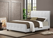 Baxton Studio Amara White Modern Bed - Full Size affordable modern furniture in Chicago, Baxton Studio Amara White Modern Bed - Full Size,  Bedroom Furniture  Chicago