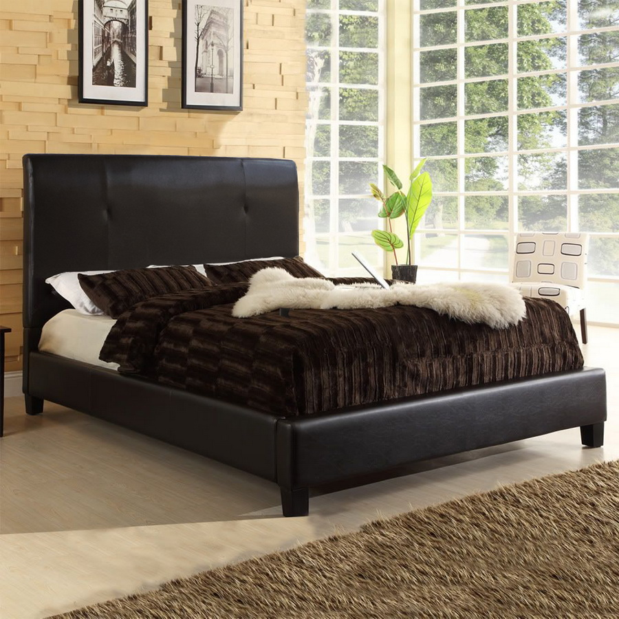 Baxton studio cambridge bed queen size affordable modern for Affordable furniture cambridge
