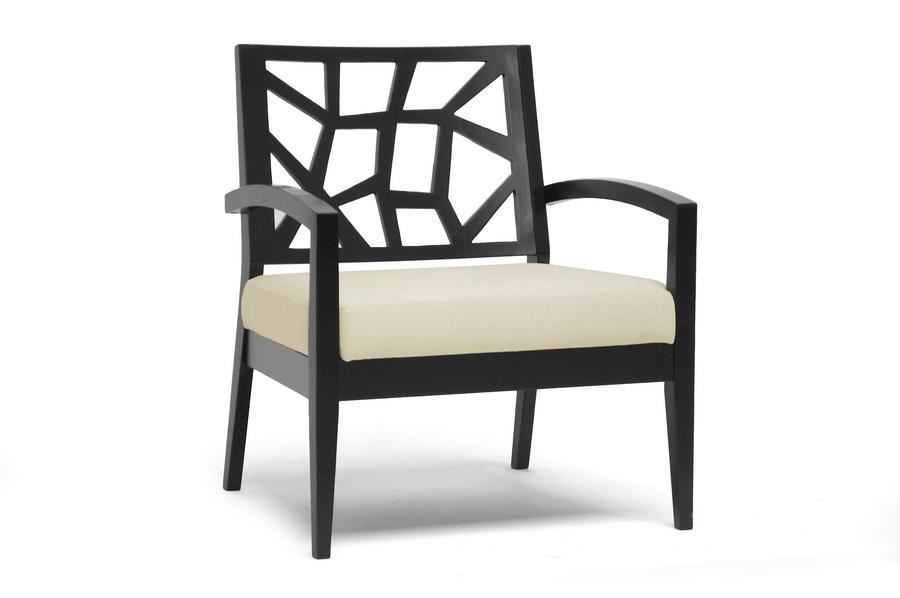 baxton studio jennifer dark brown and cream modern lounge chair bsojennifer lounge chair 110 baxton studio lounge chair