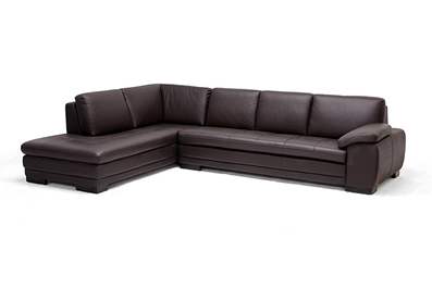 Diana Dark Brown Sofa Chaise Sectional Reverse