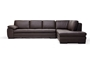 Baxton Studio Brown leather sofa sectional with chaise - BSO625-M9805-Sofa/lying-Leather/Match (M)