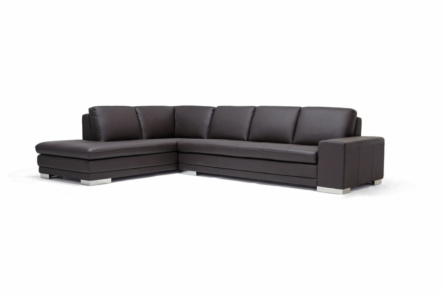 Baxton Studio Callidora Brown Leather Sectional Sofa with Left Facing Chaise - BSO766-sofa/ ...  sc 1 st  Baxton Studio Outlet : leather sectional sofas with chaise - Sectionals, Sofas & Couches