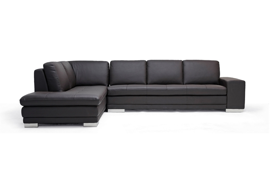 ... Baxton Studio Callidora Brown Leather Sectional Sofa with Left Facing Chaise - BSO766-sofa/  sc 1 st  Baxton Studio Outlet : sectional couch with chaise - Sectionals, Sofas & Couches