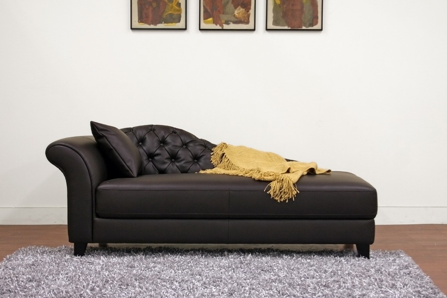 Baxton Studio Josephine Brown Victorian Modern Chaise Lounge BSOA 681  DU206Josephine Brown Victorian Modern Chaise Lounge Affordable Modern