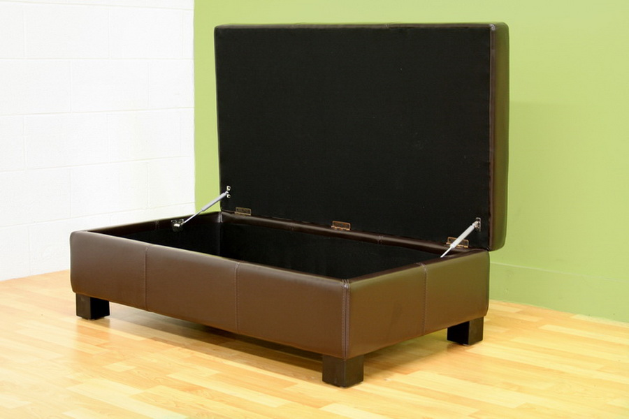 large storage ottoman sydney extra with serving trays studio brown leather flip top elegant faux 2 tray