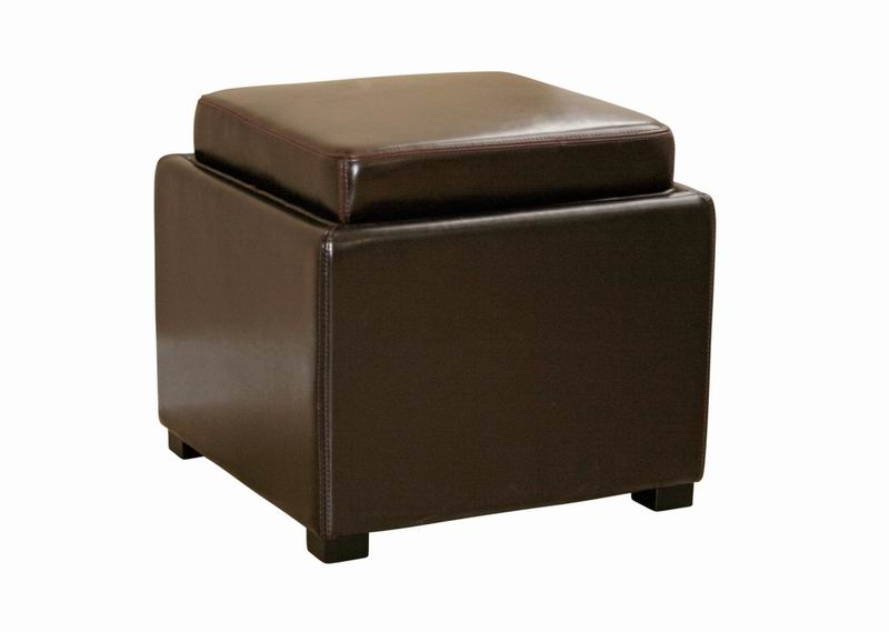 Surprising Leather Ottoman Tv Tray With Reversible Flip Lid Gmtry Best Dining Table And Chair Ideas Images Gmtryco