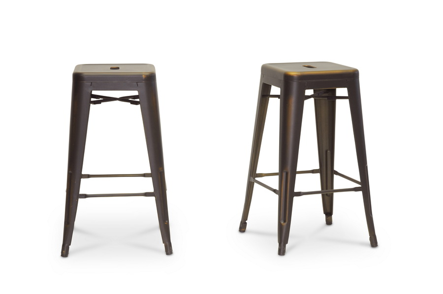 Baxton studio french industrial modern counter stool in for Cheap modern industrial furniture