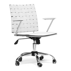 baxton studio vittoria white leather modern office chair affordable modern furniture in chicago home office
