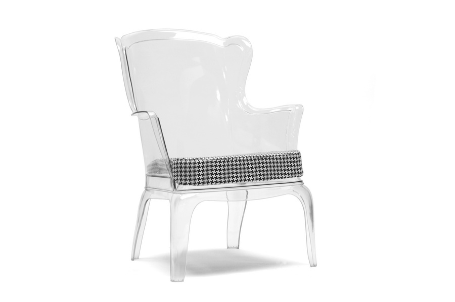 Superb Baxton Studio Tasha Clear Polycarbonate Modern Accent Chair    BSOPC 689A Clear/Dark ...