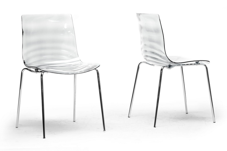 modern acrylic furniture. Baxton Studio Marisse Clear Plastic Modern Dining Chair (Set Of 2) Acrylic Furniture