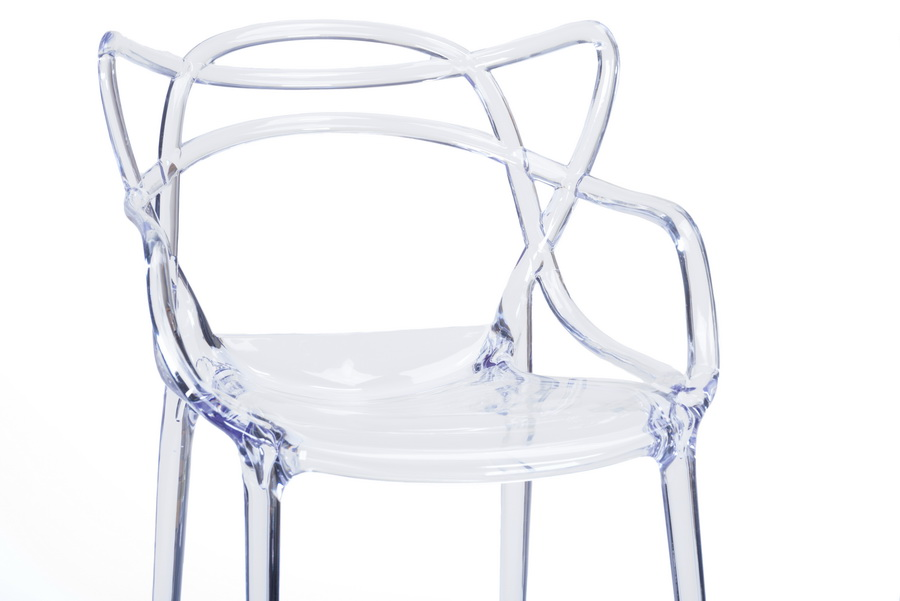 Baxton StudioElectron Clear Plastic Contemporary Dining Chair