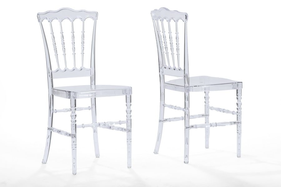 Baxton StudioCrystal Clear Plastic Contemporary Dining Chair