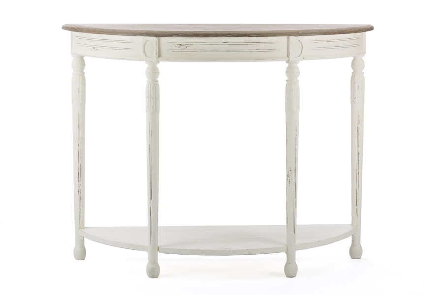 Baxton Studio Vologne Traditional White Wood French Console Table    BSOPLM2VM/M B CA ...