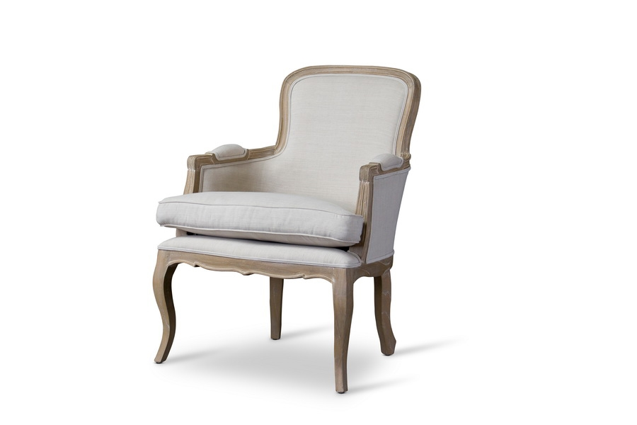 Baxton Studio Napoleon Traditional French Accent Chair Oak | Affordable  Modern Furniture In Chicago