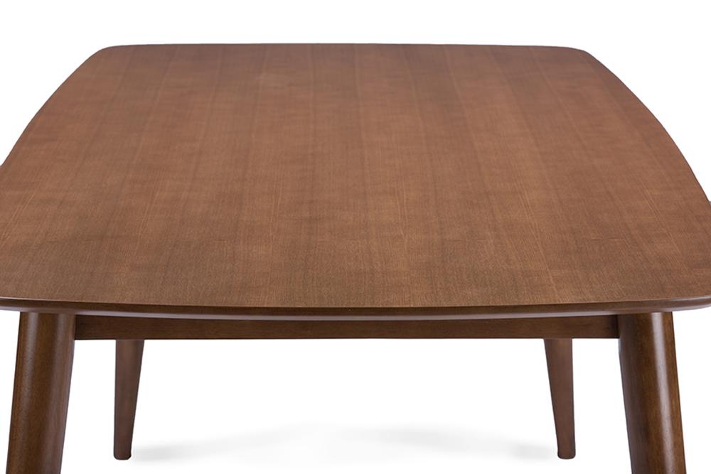 Baxton Studio Sacramento Mid-Century Dark Walnut Wood 7PC Dining ...