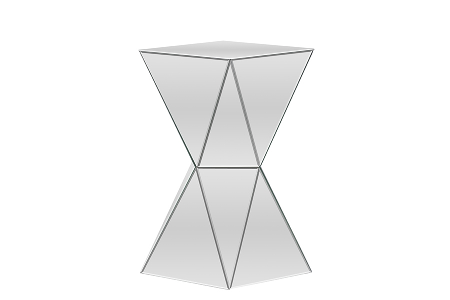 Gentil Baxton Studio Rebecca Contemporary Multi Faceted Mirrored Side Table |  Affordable Modern Furniture In Chicago.