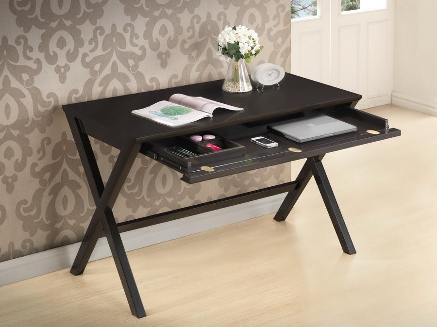 Modern Furniture Tulsa baxton studio tulsa dark brown modern desk | affordable modern