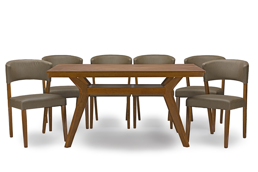 Baxton studio montreal mid century dark walnut wood 7pc for Affordable furniture montreal