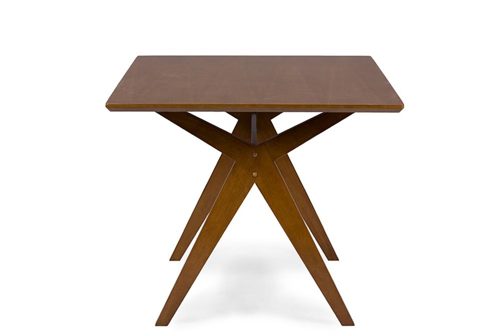 Baxton Studio Lucas MidCentury Style Walnut Brown Dining Table - Mid century furniture chicago