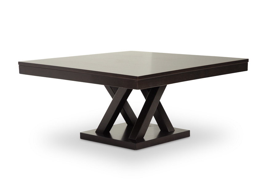 Baxton Studio Everdon Dark Brown Modern Coffee Table Affordable Modern Furniture In Chicago