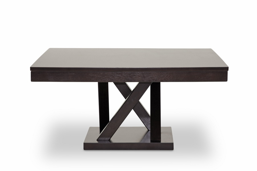 ... Baxton Studio Everdon Dark Brown Modern Coffee Table   BSOSA108 Coffee  Table ...
