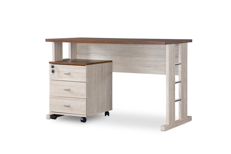 Baxton studio woodrow writing desk affordable modern for Affordable modern office furniture