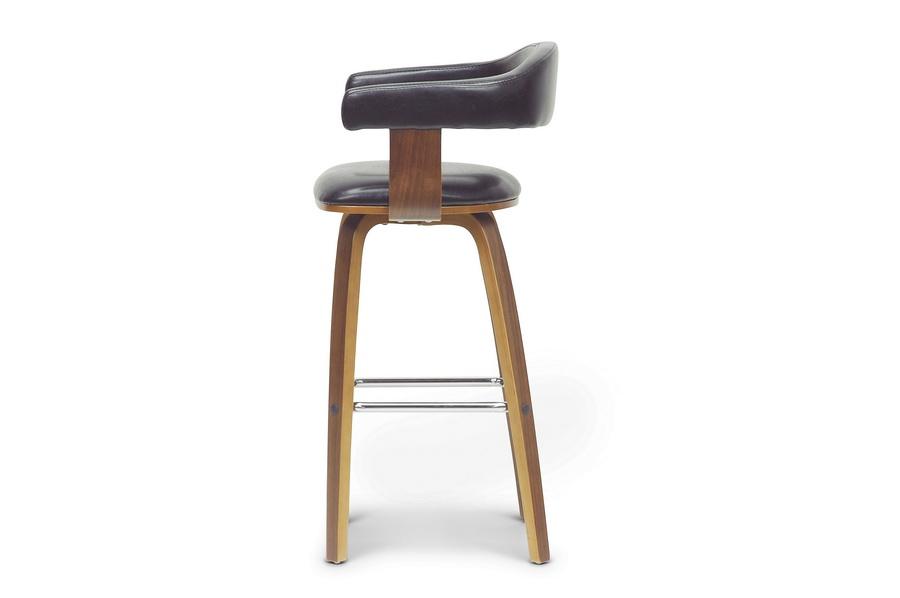 baxton studio quigley walnut and black modern counter stool bsosd22229 walnut - Modern Counter Stools