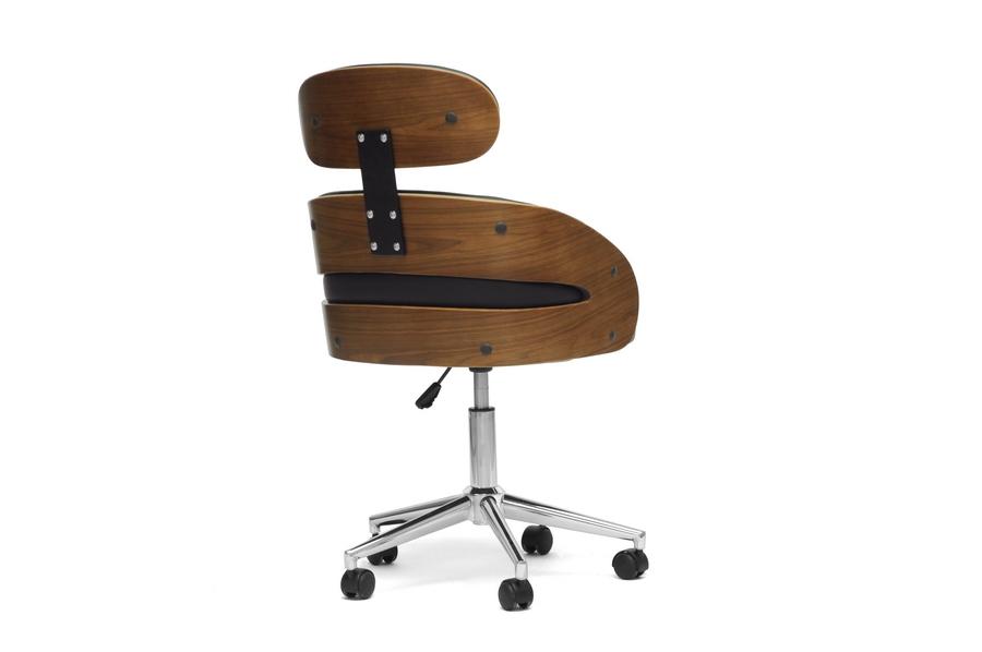 Modern Desk Chair Part - 49: ... Baxton Studio Kneppe Black Modern Office Chair - BSOSDL-2006-5-OC