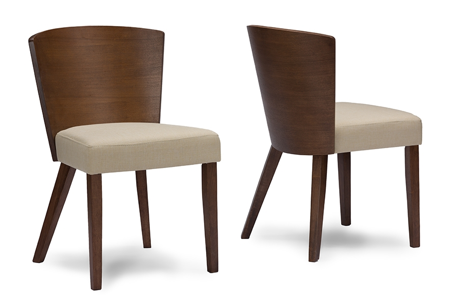 Baxton Studio Sparrow Brown/Light Brown Wood Modern Dining Chair  Contemporary Dining Chair/Traditional