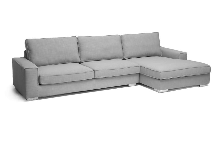 Charming Baxton Studio Brigitte Gray Modern Sectional Sofa Affordable Modern  Furniture In Chicago, Baxton Studio Brigitte