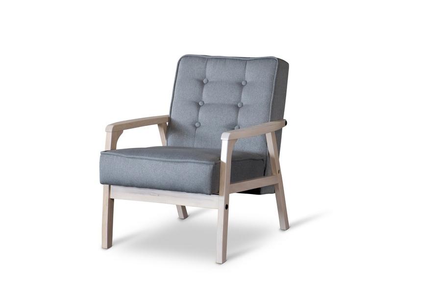 Baxton Studio Mid Century TIMOR Club Chair Gray