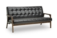 Baxton Studio Mid-Century Masterpieces Sofa-Brown Affordable modern furniture in Chicago, Mid-Century Masterpieces Sofa-Brown, Living Room Furniture Chicago