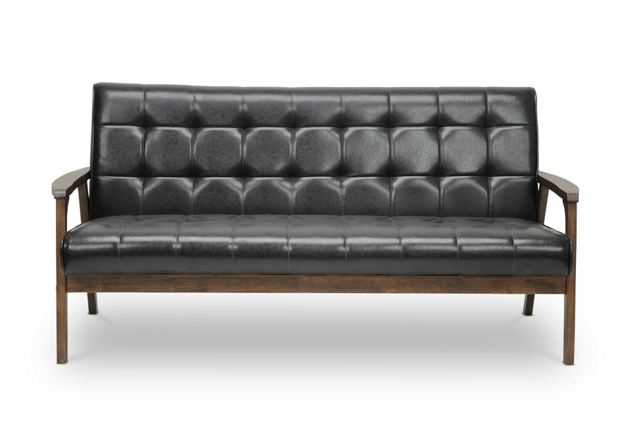 Baxton Studio Mid Century Masterpieces Sofa Brown Affordable
