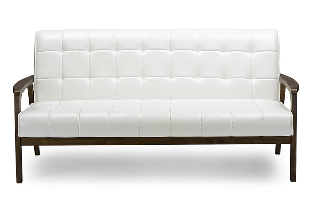 Baxton studio baxton studio mid century masterpieces sofa for Affordable mid century modern sofa