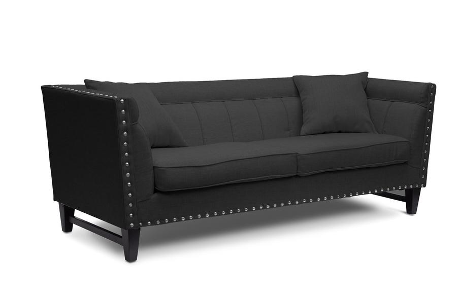 baxton studio stapleton gray linen modern sofa affordable modern furniture in chicago