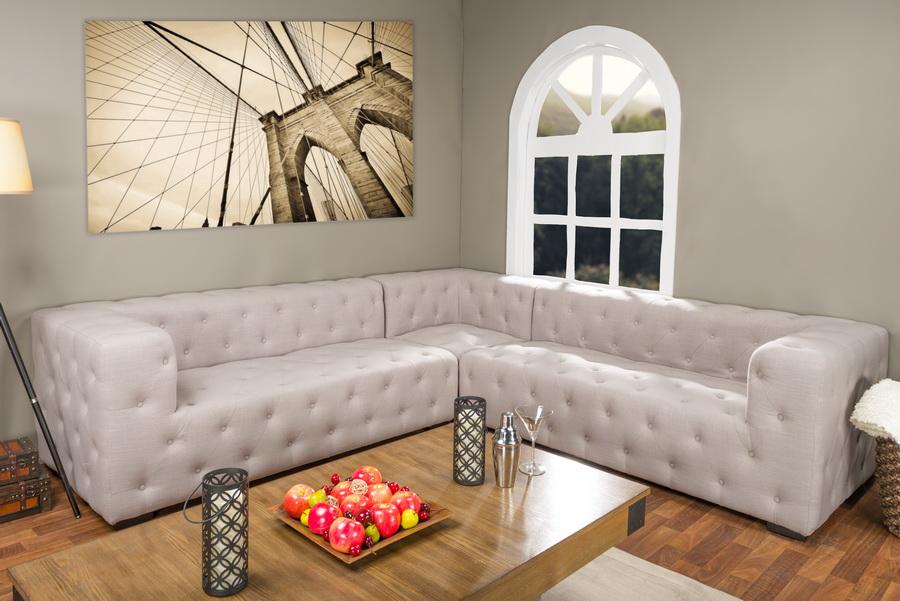 Baxton Studio Verdicchio Beige Linen Sectional Sofa -  BSOTSF-8109-Beige-SECTNL