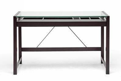 Baxton Studio Idabel Dark Brown Wood Modern Desk With