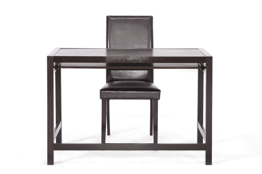 Baxton Studio Astoria Dark Brown Modern Desk And Chair Set Home Enchanting Affordable Modern Office Furniture
