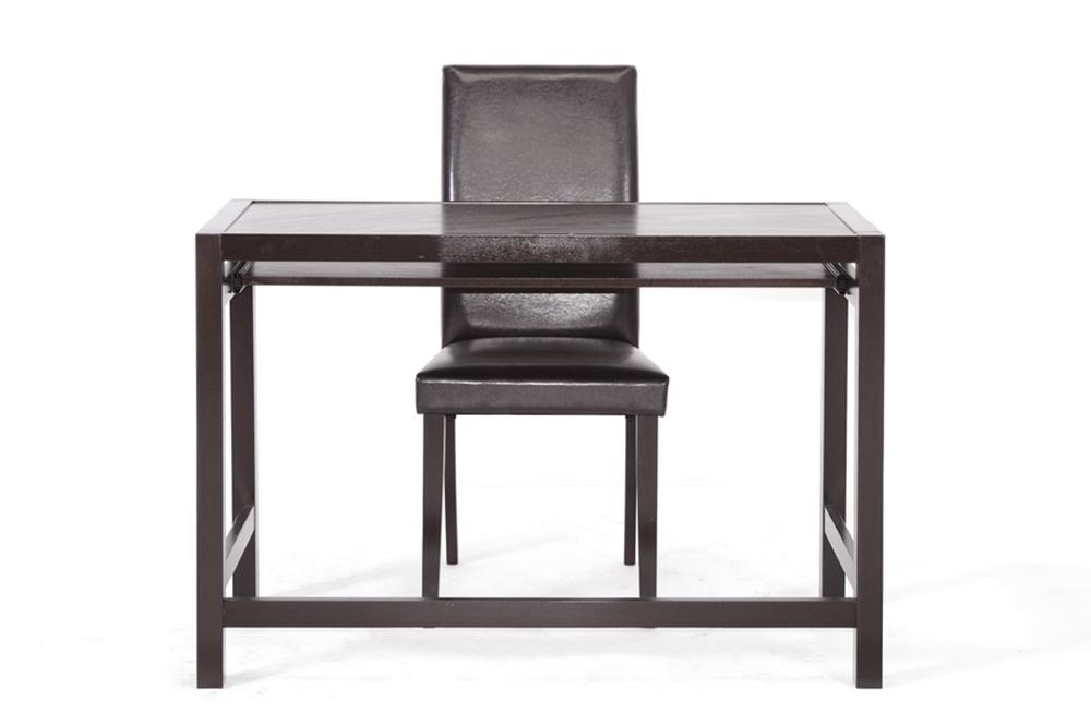 Baxton Studio Astoria Dark Brown Modern Desk And Chair Set Home