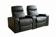 Home Theater Seating Cannes in Black - Row of 2